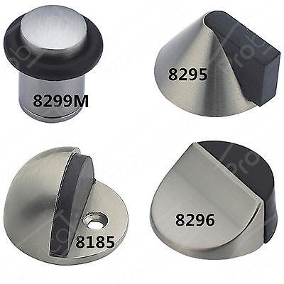 Satin Nickel Rubber Door Stopper Stop Door Wedge Wall/Floor Mounting Cone Column