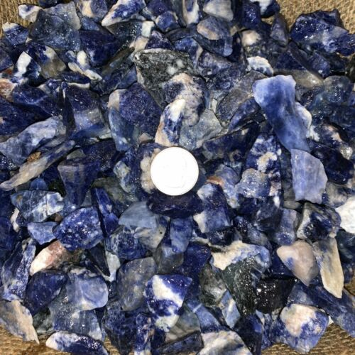 (SMALL) Sodalite Rough- Very High Quality- 3000 Carats + a FREE Faceted Gemstone