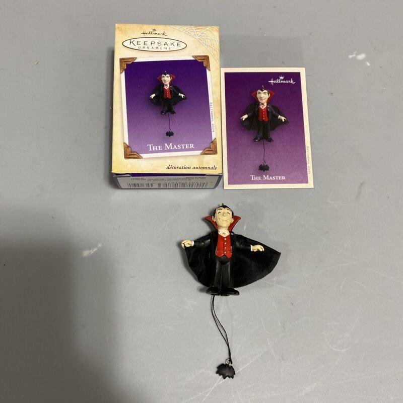 Hallmark Keepsake THE MASTER 2003 Halloween Ornament Vampire Pull String