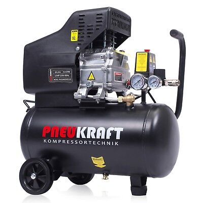 24 Litre Air Compressor - 9.6 CFM, 2.5 HP 8 Bar with Wheels Powerful Machine