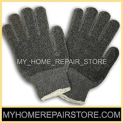 Free Sh Get A Grip With These 2 Pairs Grey Machine Knit Gloves With Pvc Dots