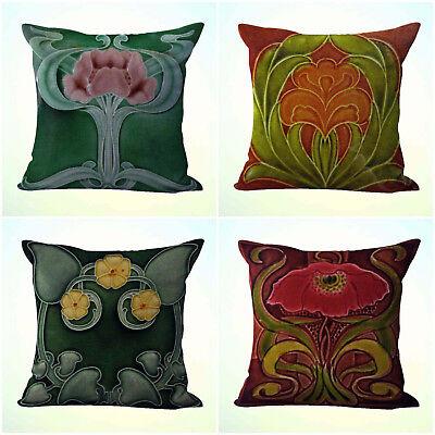 US Seller- 4pcs contemporary decorative pillow cushion covers art nouveau flower