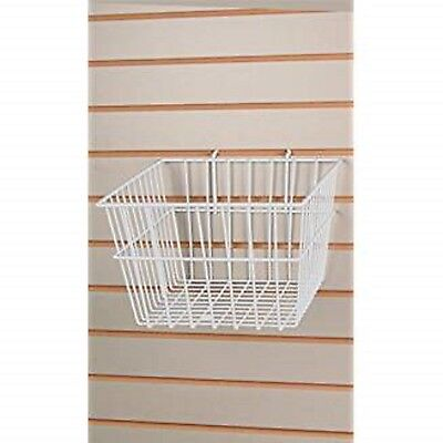 Only Hangers New Retails White Wire Slatwall Baskets 12l X 12w X 8d