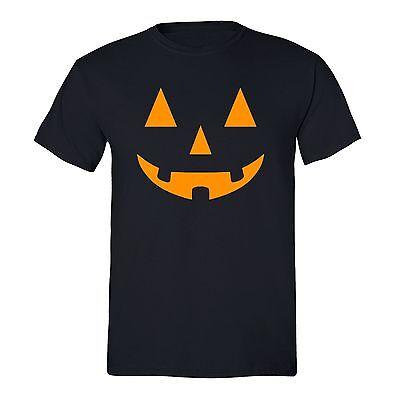 Halloween T-shirt Jack O'Lantern Pumpkin scary Boo spooky Funny Unisex Men shirt ()