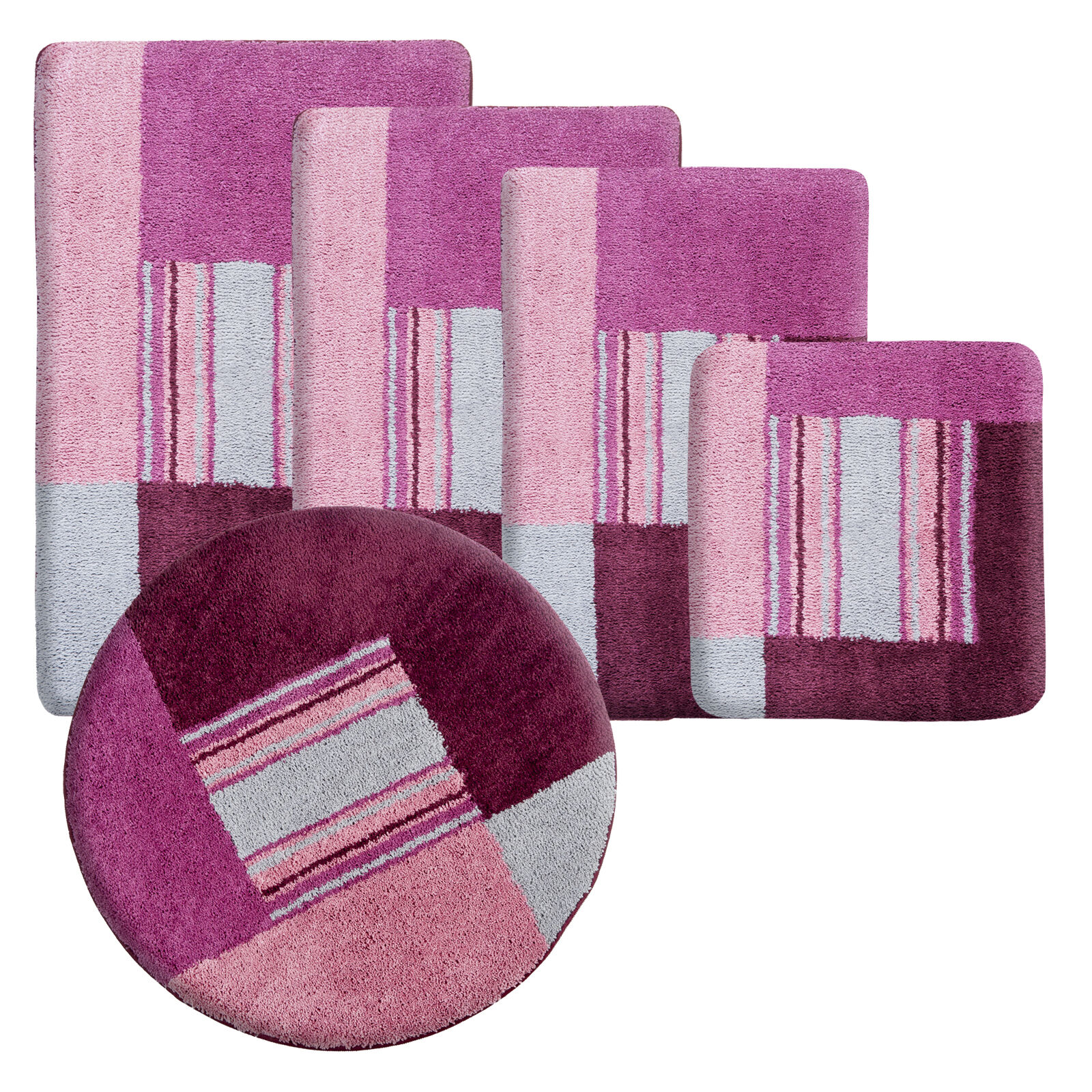 badematte uni badgarnitur duschvorleger badeteppich badvorleger badteppich matte eur 7 99. Black Bedroom Furniture Sets. Home Design Ideas