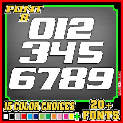 MX Number Plate Decals **SET OF 3* Sticker MX ATV Dirt Bike MOTOCROSS Motorcycle