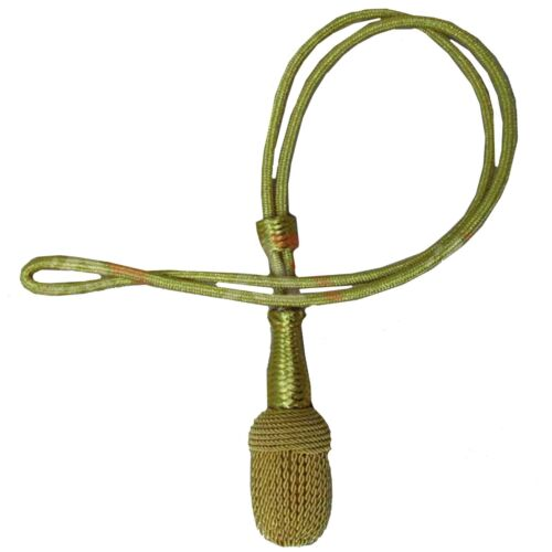 Army Officer Gold Metallic Cord With Wire Acorn Sword Knot Brand New