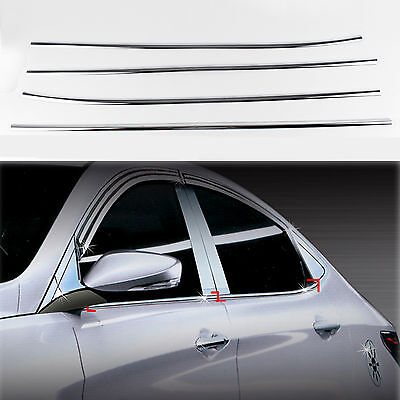 Chrome Door Window Sill Belt Molding Trim Cover for 10+ Accent/i25/Solaris/Verna