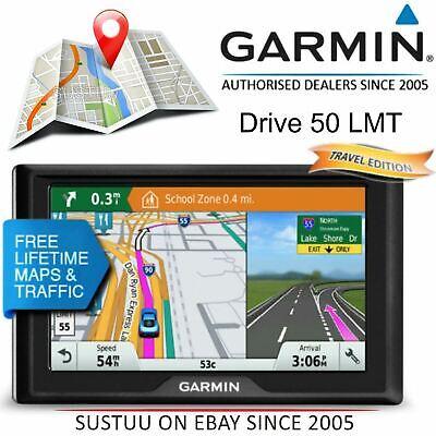 "Garmin Drive 50LMT 5"" GPS Sat Nav│Lifetime Europe+Middle East+North Africa Maps"
