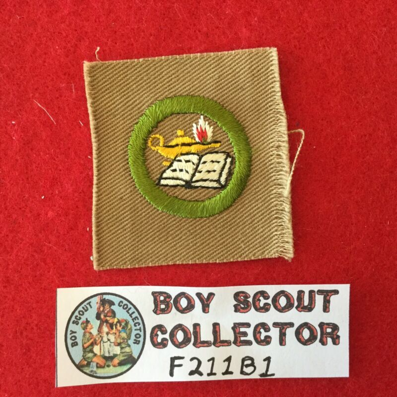 Boy Scout Square Merit Badge Reading