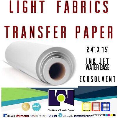 Light Fabrics Ink-jet Heat Transfer Paper Roll 24x50