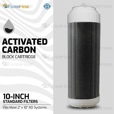 Water Filter Fluoride Arsenic Activated Carbon Block Cartridge: 10""