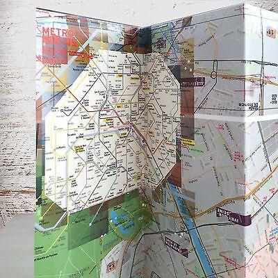 Map Laminated Paris [augmENTED reaLITY AR] - Landmarks, Metro, Rue Index
