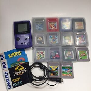 Gameboy Colour Purple w 14 games and cases