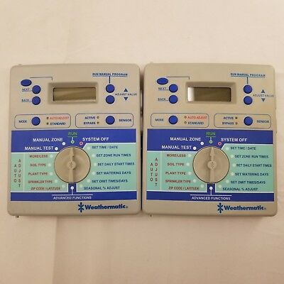 (Lot of 2) Weathermatic SL1600 4 Zone Smartline Irrigation Controller Faceplates