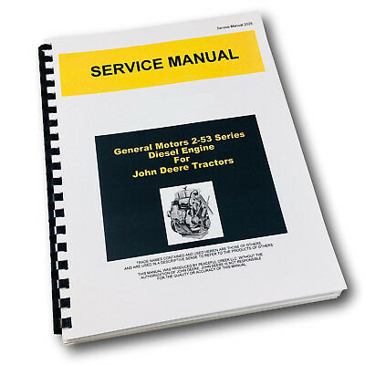 Service Manual For John Deere 440c 440ic Crawler Tractor Gm 2-53 Diesel Engine