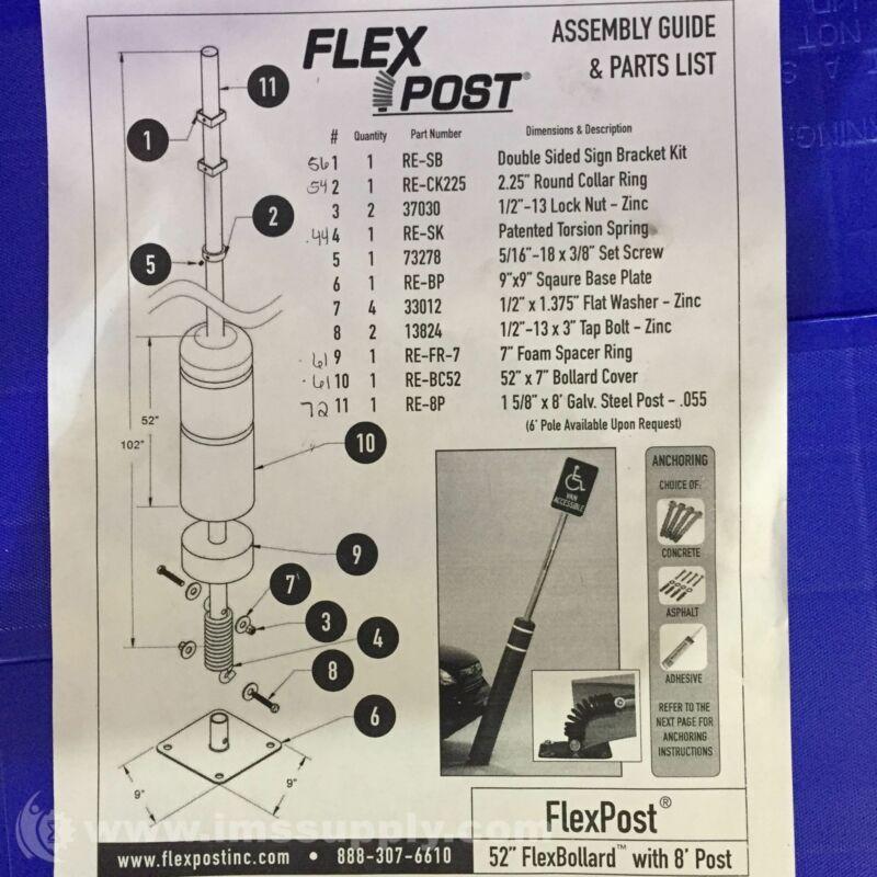 "FlexPost Inc. 52"" FlexBollard with 8 5721"