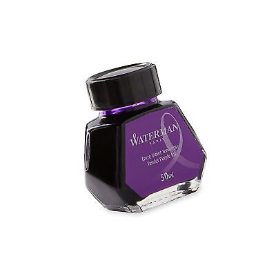 Waterman 1.7 oz Ink Bottle for Fountain Pens, Tender Purple (S0110750)