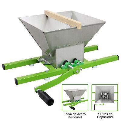 7L Prensa de Fruta Vino Sidra Jugo Extractor Manual de Acero Inoxidable