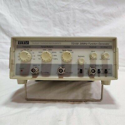 Thurlby Thandar Tg120 20mhz Function Generator. Made In England