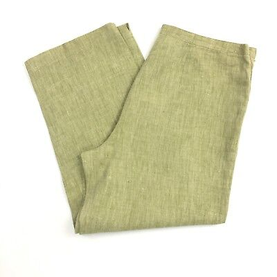 Easy Spirit Women's Size 6 Green Linen Cropped Pants  ()