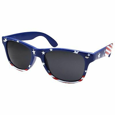 Patriotic USA American flag Star Strip Sunglasses Vintage 80's Retro US Glasses