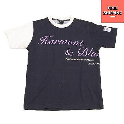 HARMONT & BLAINE JUNIOR T-Shirt Top Size L / 9-10Y Coated Front Crew Neck