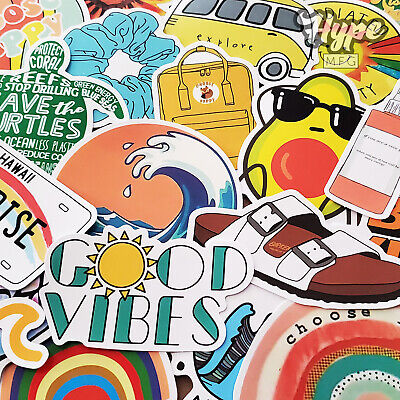 35 PCs Trendy VSCO Stickers for Water Bottles and Hydro Flask for Teens
