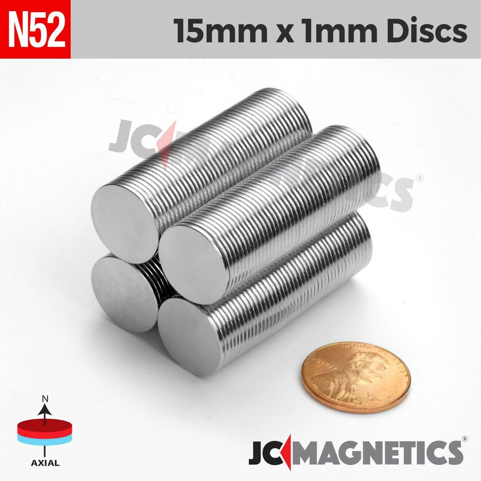 "1//8/"" x 1//32/"" Disc 3x1mm Neodymium Magnets N35 Fridge Crafting Fasteners Craft"