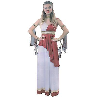 Goddess Roman Egyptian or Greek Ladies Toga Fancy Dress Costume Small (Toga Roman Or Greek)