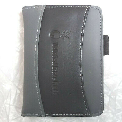 Leeds 3.5 X 5 Black Gray Leather Personal Jotter Note Book Pad Wells R. Estate