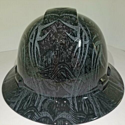 NEW FULL BRIM Hard Hat custom hydro dipped GOLDBERG TRIBAL JACK HAMMER TATTOO 4