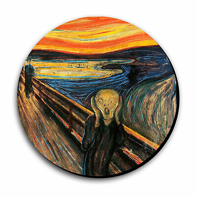 Art Print Painting Munch The Scream Mouse Pad 8 in Diameter x 8th Thick Munch Art Mouse Pad