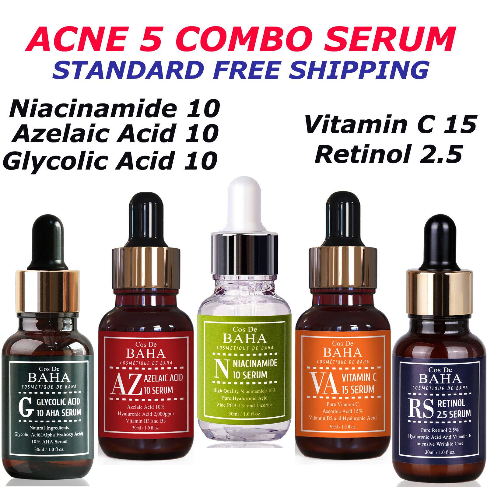 Facial Serum Azelaic Acid 10% B3 Face Rosacea Acne Pimple Pi