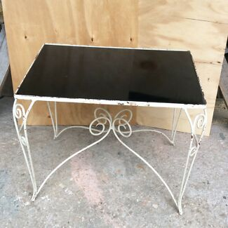 Vintage steel wire table