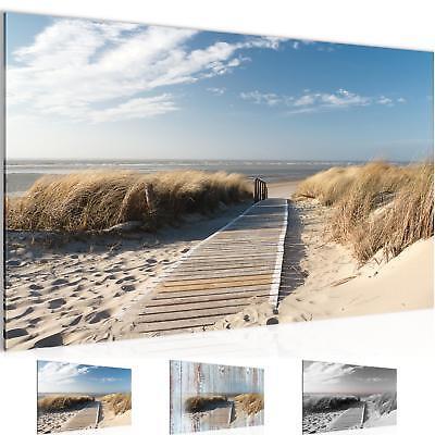 WANDBILDER Strand Meer VLIES LEINWAND BILD - XXL BILDER KUNSTDRUCK 604014P - Strand Leinwand Drucken