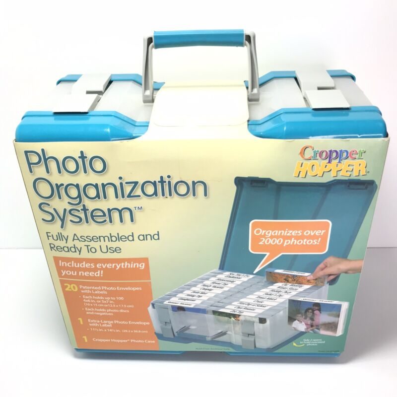NEW Cropper Hopper Photo Organizer Storage Case Acid Free Organization System