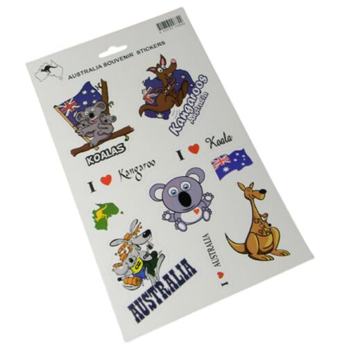 Stickers Kangaroo Koala Scrapbooking Decal Assorted Australia Fauna Animals NEW