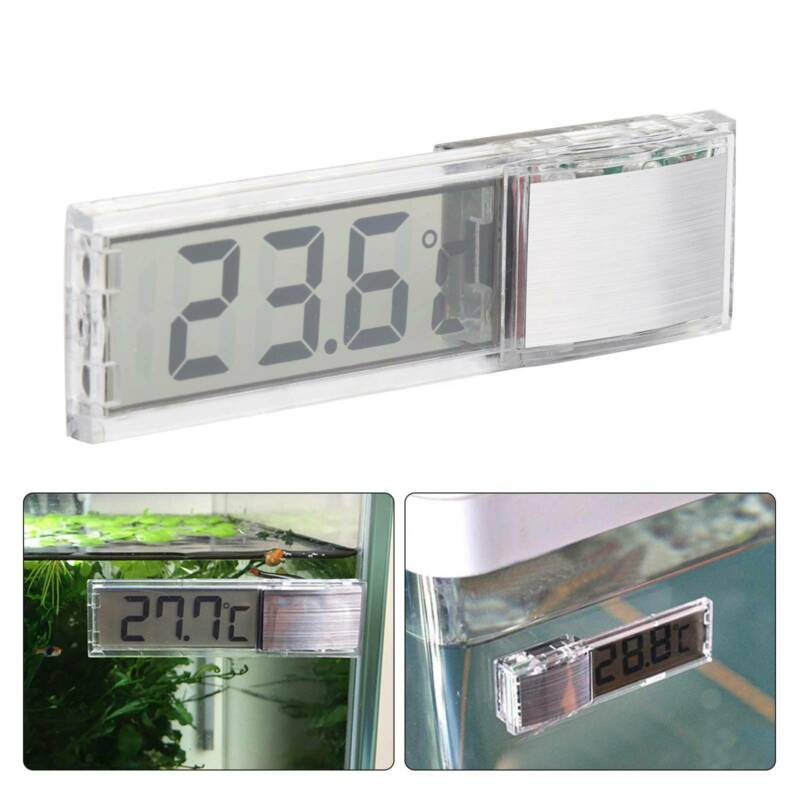Digital LCD Fisch Aquarium Thermometer Wasser Temperatur Sensor Messergerät