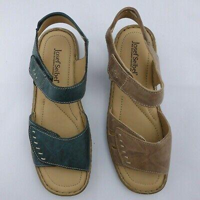 Josef Seibel Ladies Leather Sandal Beige or Blue Style- Lisa 01