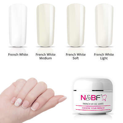 French Nails UV Gel White mittelviskos 5 - 30ml Frenchgel Weiß Nail Art Gelnägel