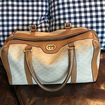 Vintage Gucci GG Supreme Coated Canvas Doctor Bag