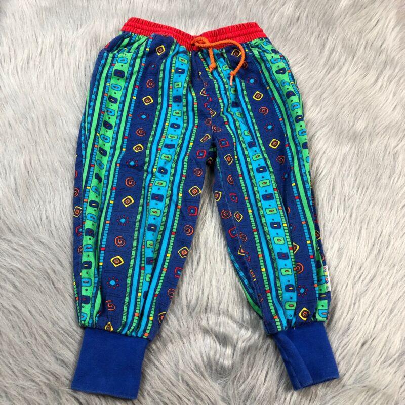 Vintage 90s Gymboree Toddler Boys Blue Green Jogger Pants