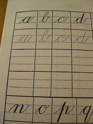 Teach Cursive Handwriting - 10 Cursive Script Handwriting Writing Practice Books upper lower case ABC teach