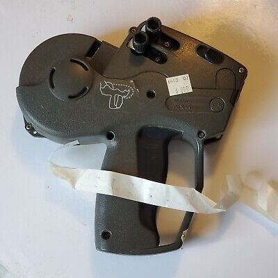 Used Monarch 1136 2-line Label Gun - Grey W Ink And Roll Loaded