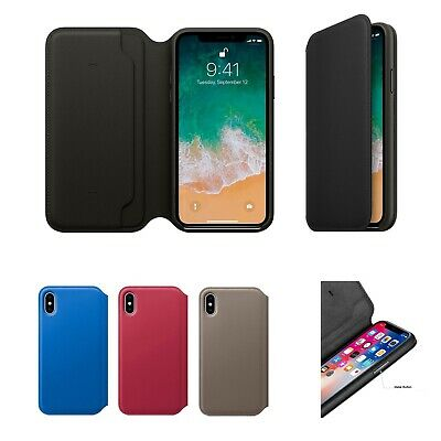 Genuine Leather Folio Flip Wallet Case Cover For Apple iPhone XR XS 6S 7 8 Plus