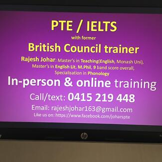 2-week/unlimited PTE course with BRITISH COUNCIL trainer (free trial)