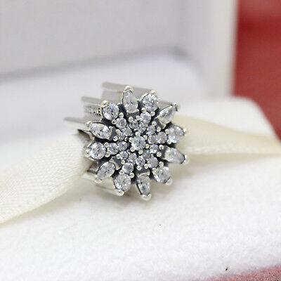 * Authentic Pandora Ice Crystal Clear CZ Bead 791764CZ Snowflake Christmas Crystal Snowflake Charm