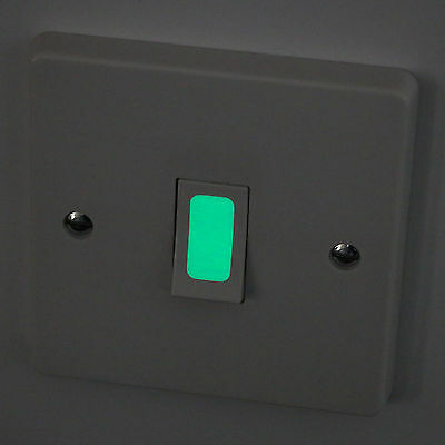 Luminescent Glow in the Dark Vinyl Light Switch Stickers (16 Pack)