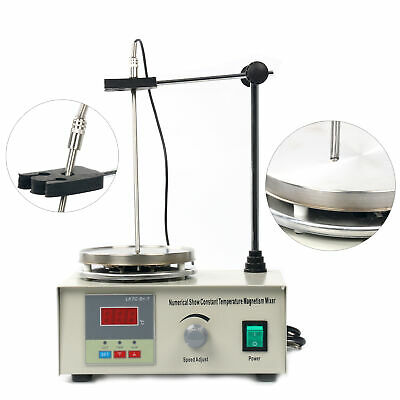 Lab Magnetic Stirrer With Hotplate Digital Mixer Heating Plate 110v Us Stock
